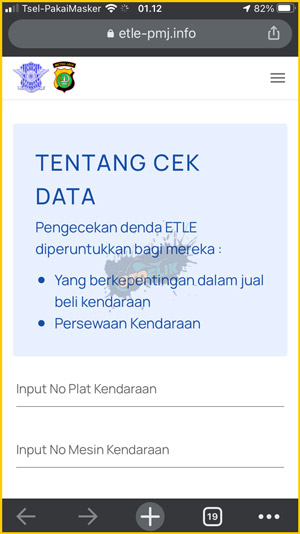 1 Buka Situs Cek Data ETLE