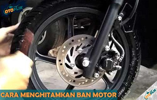 Tips Cara Menghitamkan Ban Motor Kusam Agar Mengkilap