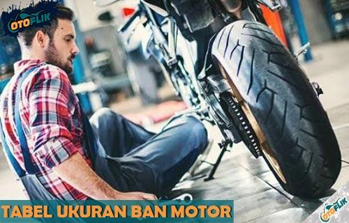 Tabel Ukuran Ban Motor Standar