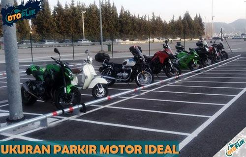 Ukuran Parkir Motor Paling Ideal dan Terlengkap