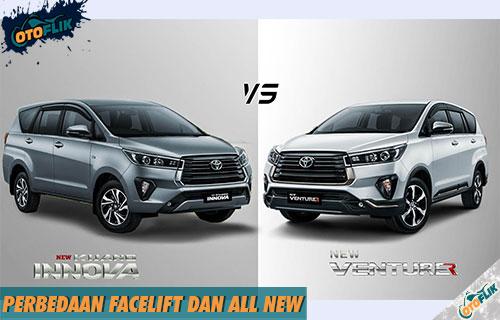 Perbedaan Facelift dan All New Pada Otomotif