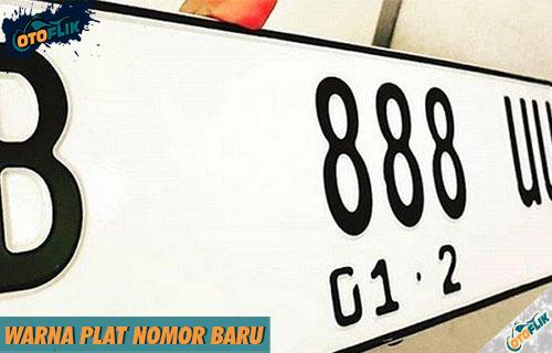 Warna Plat Nomor Baru Kendaraan di Indonesia