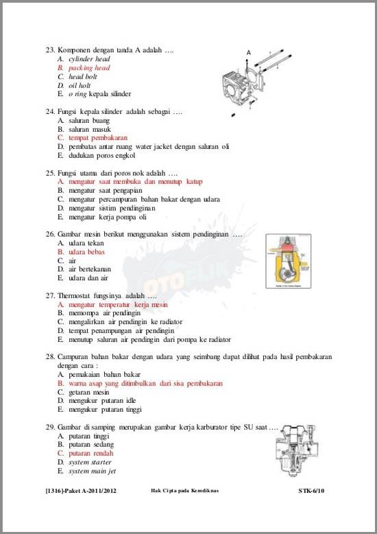 Soal Kelistrikan Otomoif Kelas XI