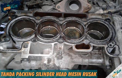 Tanda Packing Silinder Head Mesin Rusak Cara Memperbaiki