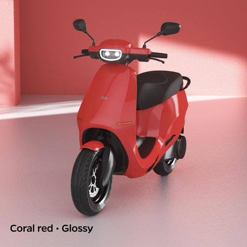 Ola Electric Coral Red Glossy