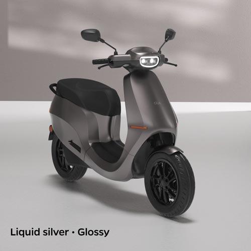 Ola Electric Liquid Silver Glossy