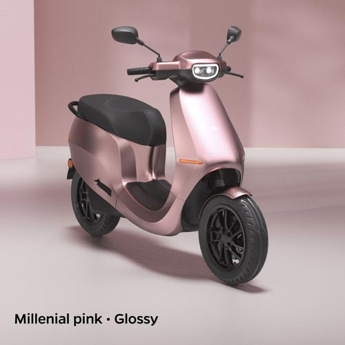Ola Electric Millenial Pink Glossy
