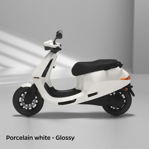 Ola Electric Porcelain White Glossy